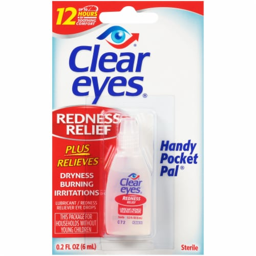 Clear Eyes Handy Pocket Pal Redness Relief Eye Drops Perspective: front