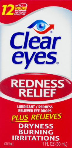 Clear Eyes Redness Relief Eye Drops Perspective: front