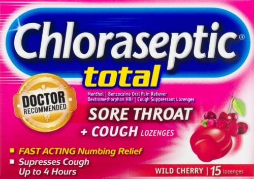 Chloraseptic Total Wild Cherry Mulit-Sympton Relief Lozenges Perspective: front