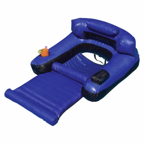 Swimline 9047 Swimming Pool Fabric Inflatable Ultimate Floating Lounger Chair Perspective: front