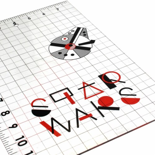 Star Wars Ruler-Millenium Falcon 12 X8 Perspective: front