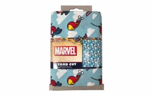 Marvel Cotton Precut Daring Kawaii Avenger 4pc Perspective: front