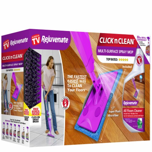 Rejuvenate Click n Clean Multi-Surface Spray Mop Perspective: front