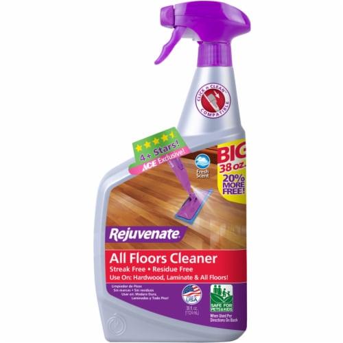 Rejuvenate  Clean Fresh Scent Floor Cleaner  Liquid  38 oz. - Case Of: 6; Perspective: front