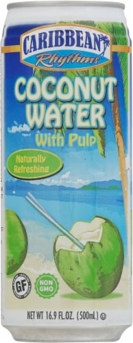 Caribbean Rythms Coconut Water with Pulp Perspective: front