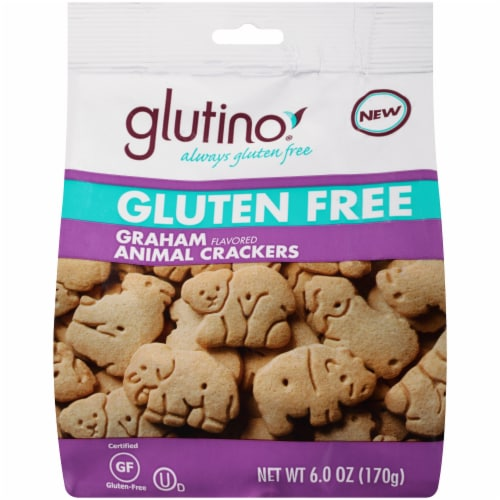 Glutino Gluten Free Graham Flavored Animal Crackers Perspective: front