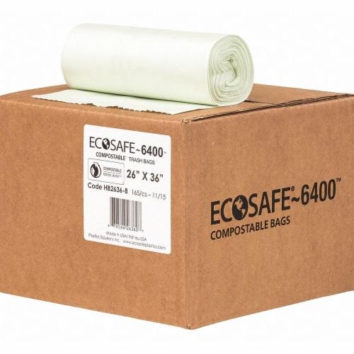 Ecosafe-6400 Trash Bag,20 gal.,Green,PK165  HB2636-8 Perspective: front