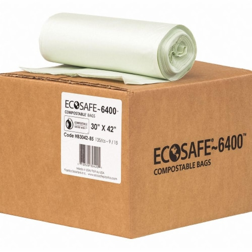 Ecosafe-6400 Trash Bag,35 gal.,Green,PK135  HB3042-8 Perspective: front