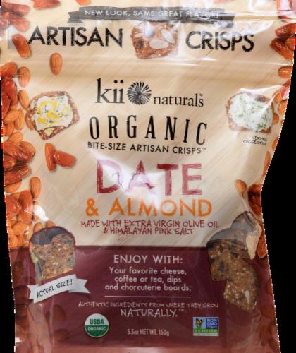 Kii Naturals Date & Almond Crisps Perspective: front