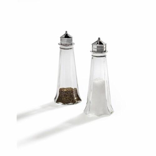 Godinger 63015 Salt & Pepper with Lighthouse Top Shaker Perspective: front