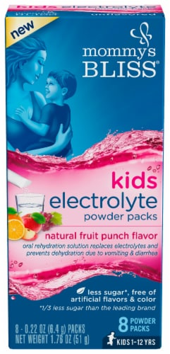 Mommy's Bliss Electrolyte Fruit Electrolyte Powder Perspective: front