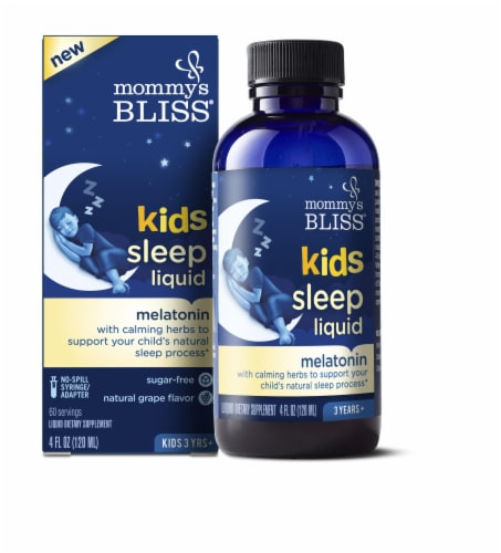 Mommy's Bliss Natural Grape Flavor Kids Sleep Liquid Perspective: front