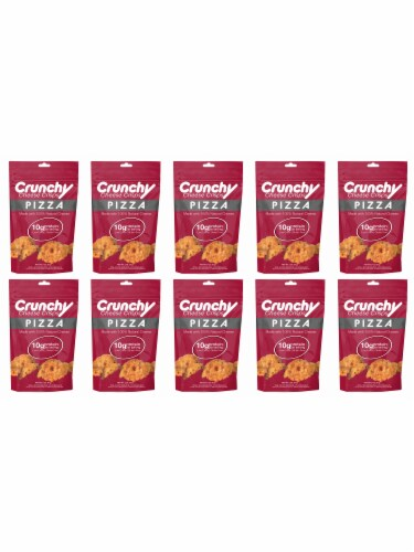 Crunchy Cheese Crisps 10 Pack- Brick Oven Pizza Perspective: front
