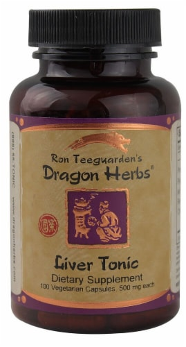 Dragon Herbs Liver Tonic Capsules 500mg Perspective: front