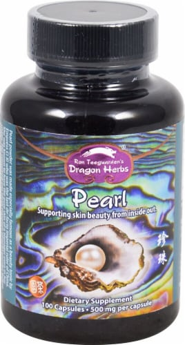 Dragon Herbs Pearl Powder Capsules 500mg Perspective: front