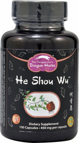 Dragon Herbs  He Shou Wu Perspective: front