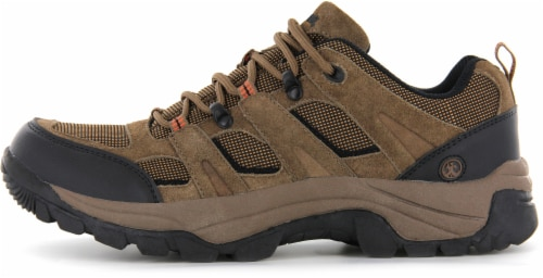 Northside Monroe Men's Low Hiking Shoes - Brown Perspective: front