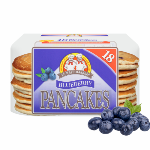 De Wafelbakkers Blueberry Pancakes 18 Count Perspective: front