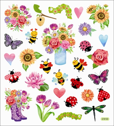 StickerKing Spring Themed Stickers Perspective: front