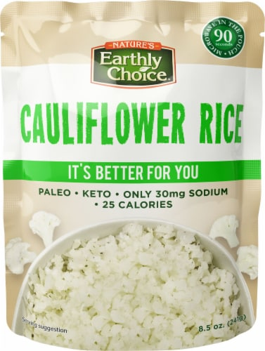 Nature's Earthly Choice Microwavable Cauliflower Rice Perspective: front