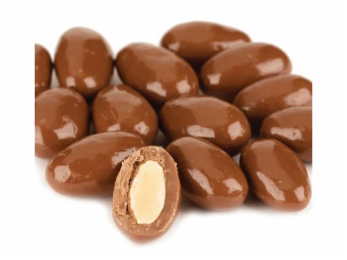 Almonds Milk Chocolate covered Almonds 2 pounds Perspective: front