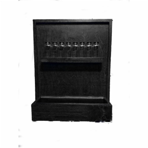 Grown by you WM19SR-BL Wall Mounted Spice Rack Planter, Black Perspective: front
