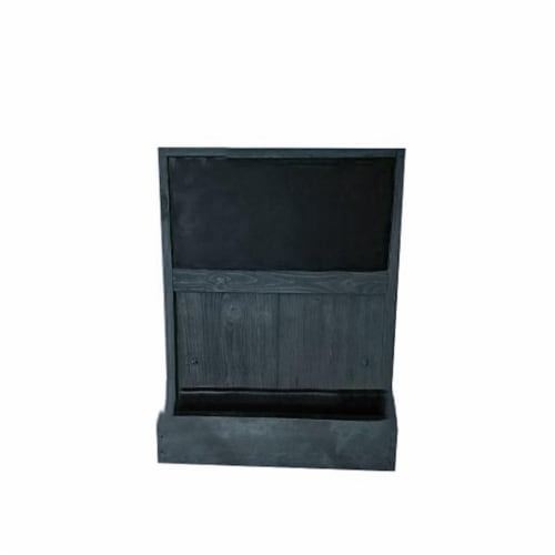 Grown by you WM19CB-BL Wall Mounted Chalkboard Planter, Black Perspective: front