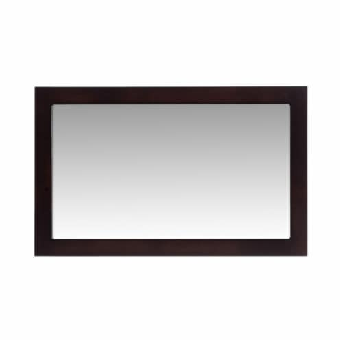 """Fully Framed 48"""" Espresso Mirror Perspective: front"""
