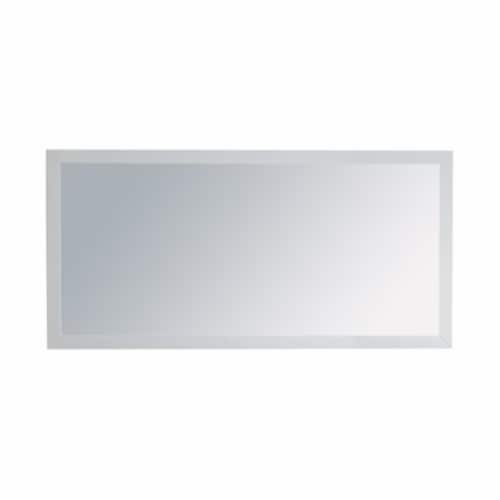 """Fully Framed 60"""" White Mirror Perspective: front"""