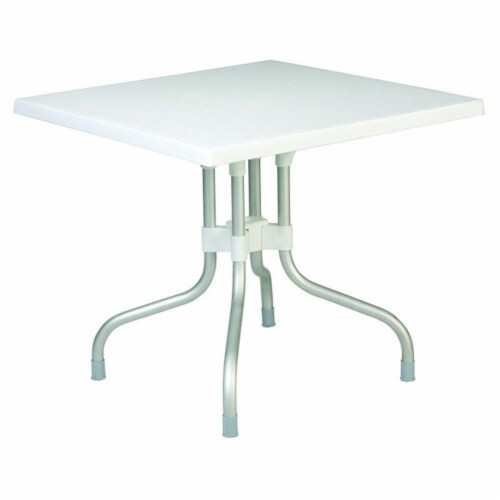 Atlin Designs 31  Square Folding Dining Table in White Perspective: front
