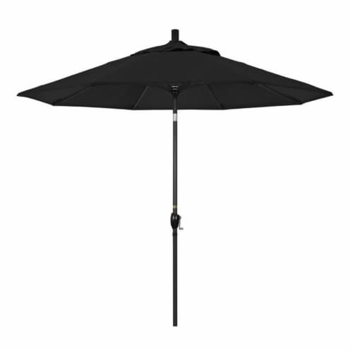 Pemberly Row 9' Patio Umbrella in Black Perspective: front