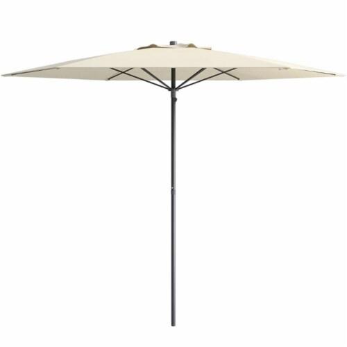 Atlin Designs 7.5' Patio Beach Umbrella in White Perspective: front