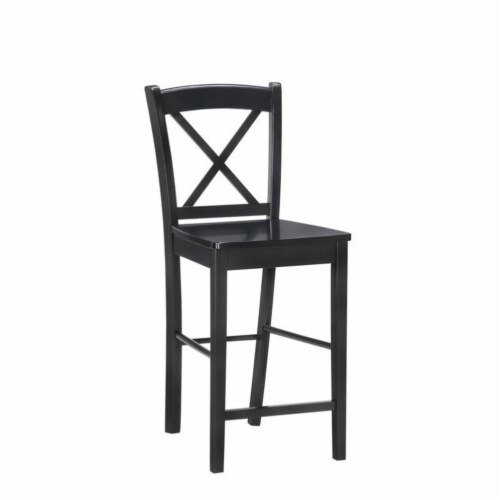 Riverbay Furniture 30  Bar Stool in Black Perspective: front