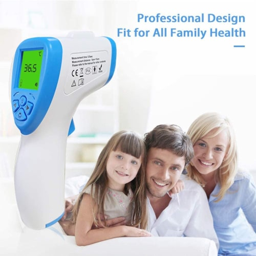 Forehead Touchless Thermometer Perspective: front