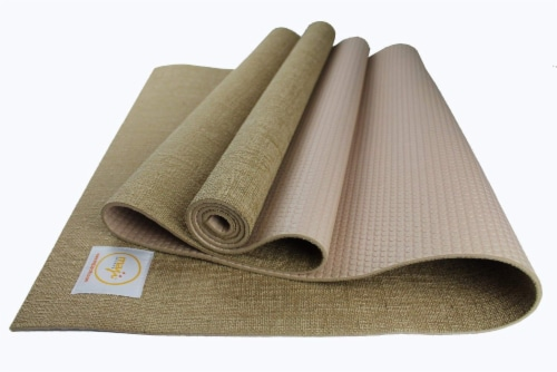 Jute Premium ECO Yoga Mat (Beige) Perspective: front