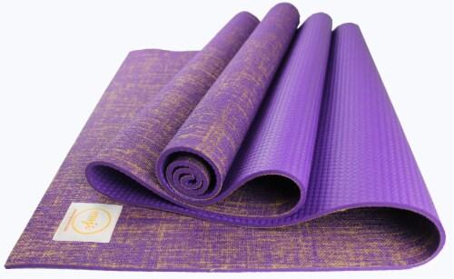 Jute Premium ECO Yoga Mat (Purple) Perspective: front