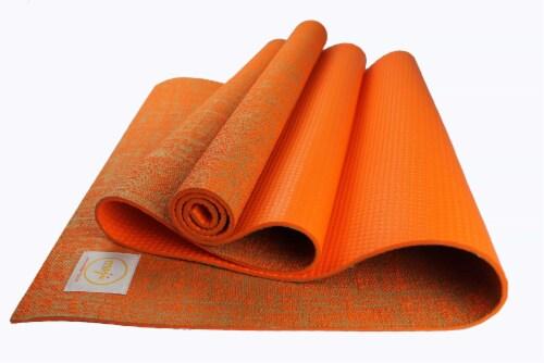 Jute Premium ECO Yoga Mat (Orange) Perspective: front