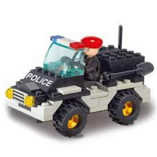Sluban 800  Riot Police Jeep Building Brick Kit (88 pcs) Perspective: front