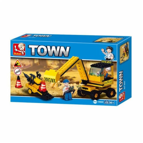 Town Construction Rooter Building Brick Kit (106pcs) Perspective: front