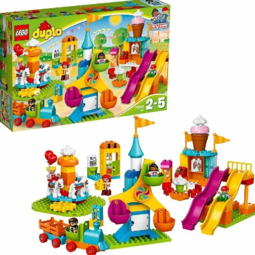 Sluban Amusement Park Duplo-Style Brick Kit (54 pcs) Perspective: front