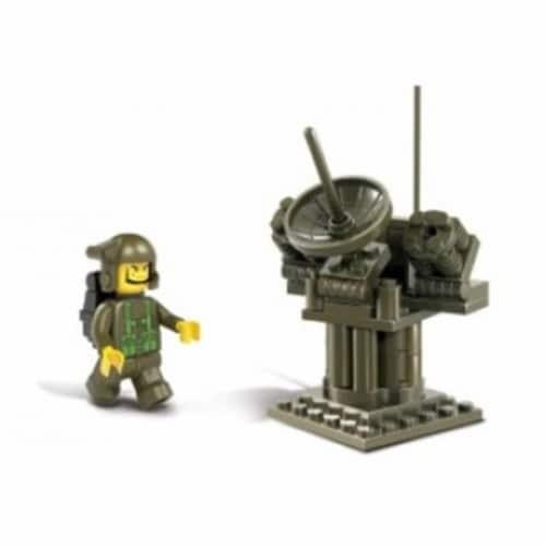 Sluban 293  Land Forces Radar Station Building Brick Kit (44 pcs) Perspective: front