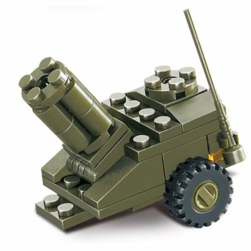 Sluban 295  Land Forces Army Munitions Depot Building Brick Kit (93 pcs) Perspective: front