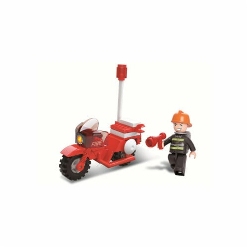 Firefighting Motorcycle Building Brick Kit(25 pcs) Perspective: front