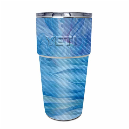 MightySkins CF-YEPINT16SI-Cell Phone Towers Carbon Fiber Skin for Yeti Rambler 16 oz Stackabl Perspective: front