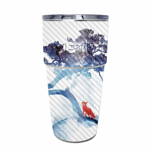 MightySkins CF-YEPINT16SI-Last Apple Tree Carbon Fiber Skin for Yeti Rambler 16 oz Stackable Perspective: front