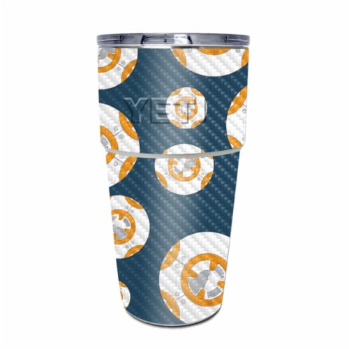 MightySkins CF-YEPINT16SI-Mini Galaxy Bots Carbon Fiber Skin for Yeti Rambler 16 oz Stackable Perspective: front