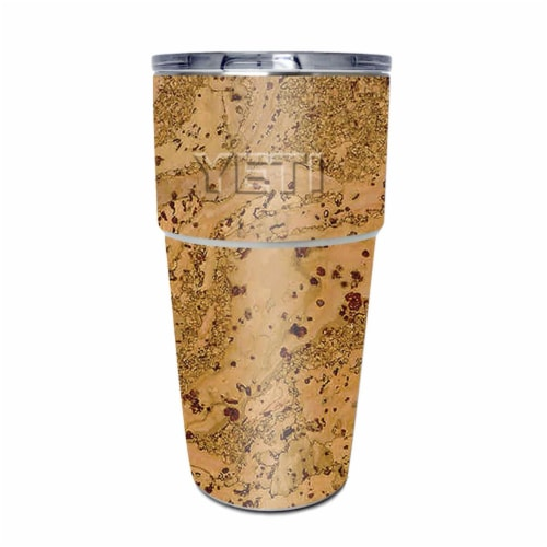MightySkins YEPINT16SI-Cork Skin for Yeti Rambler 16 oz Stackable Cup - Cork Perspective: front