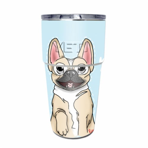 MightySkins YEPINT16SI-Frenchie Love Skin for Yeti Rambler 16 oz Stackable Cup - Frenchie Lov Perspective: front