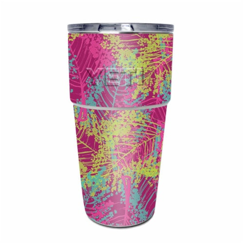 MightySkins YEPINT16SI-Magenta Summer Skin for Yeti Rambler 16 oz Stackable Cup - Magenta Sum Perspective: front
