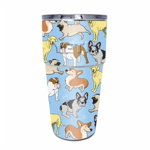 MightySkins YEPINT16SI-Puppy Party Skin for Yeti Rambler 16 oz Stackable Cup - Puppy Party Perspective: front